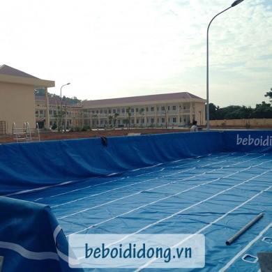 lắp đặt bể bơi di động cho trường học