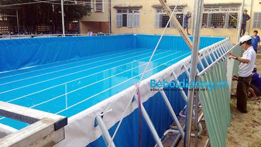 Kinh nghiệm triển khai hồ bơi di động trong trường học