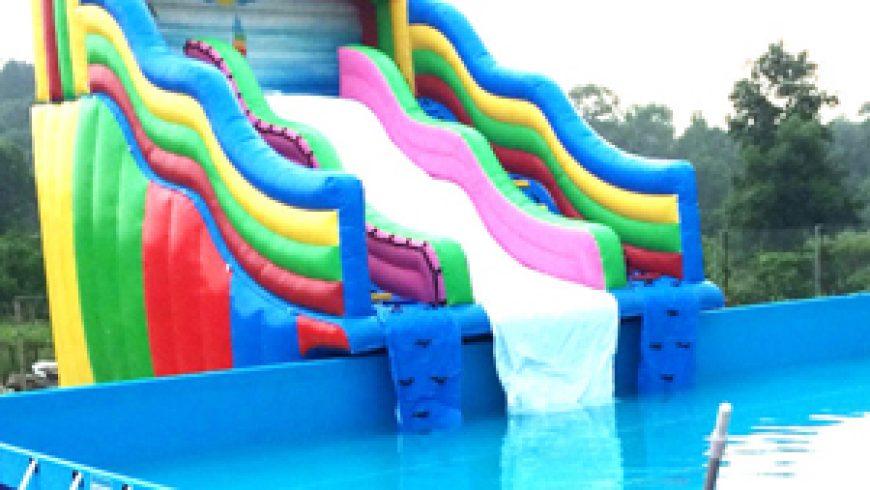 Các mẫu nhà hơi trượt nước cho bể bơi di động