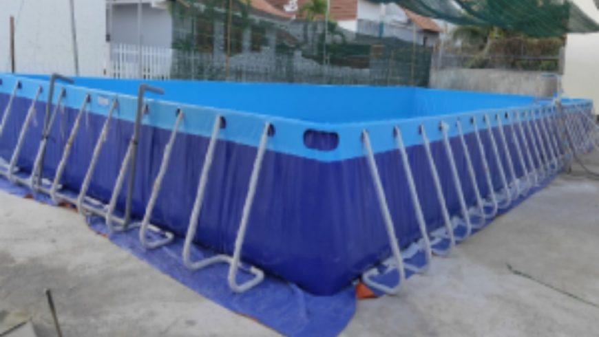 Hồ bơi lắp ghép được Hoàng Hải bàn giao tại Khánh Hòa