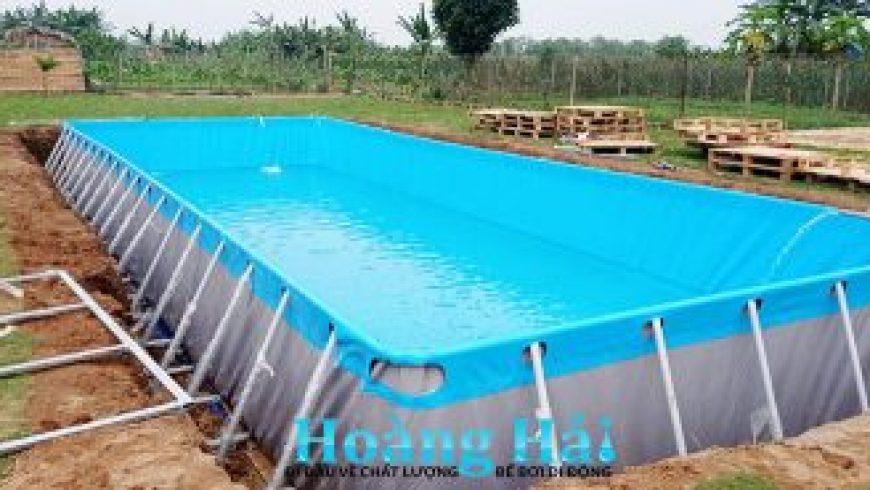 Nhà sản xuất Hoàng Hải bàn giao bể bơi di động tại Hà Nội